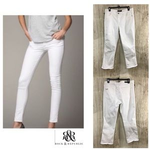 Rock & Republic White skinny Jeans Kendall sz 14